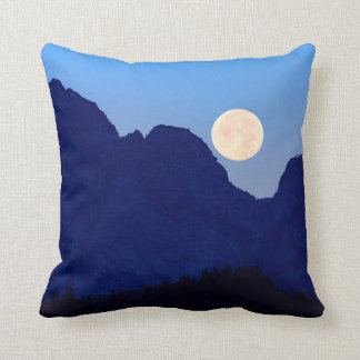 Super Moon Over The Grand Tetons Throw Pillow