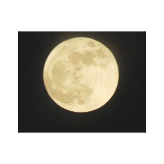 Super Moon Stretch Canvas