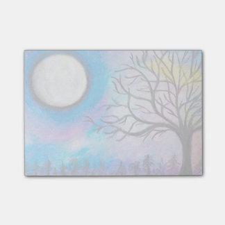 Super Moon & Tree Landscape Post-it Notes