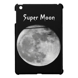 Super Moon with Airplane Passing/Customizable! iPad Mini Cover