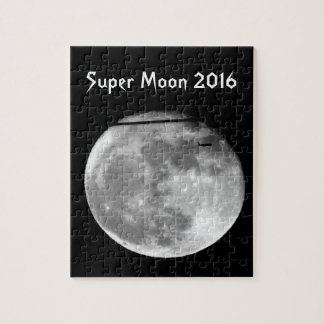 Super Moon with Airplane Passing/Customizable! Jigsaw Puzzle