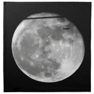 Super Moon with Airplane Passing/Customizable! Napkin