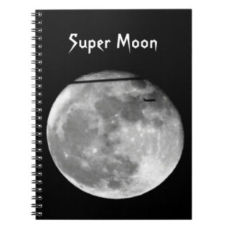 Super Moon with Airplane Passing/Customizable! Notebooks