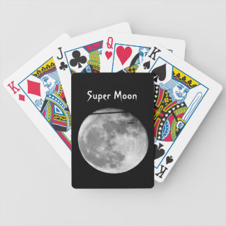 Super Moon with Airplane Passing/Customizable! Poker Deck