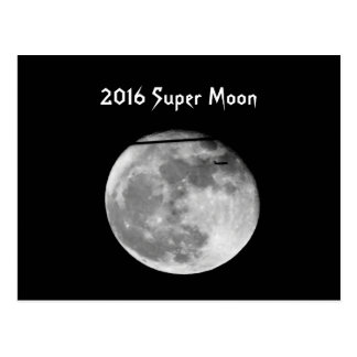Super Moon with Airplane Passing/Customizable! Postcard