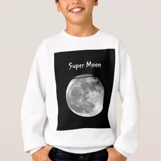 Super Moon with Airplane Passing/Customizable! Sweatshirt