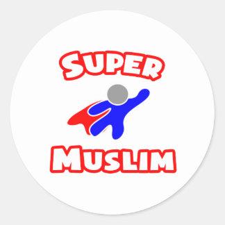 Super Muslim Classic Round Sticker