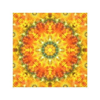 Super Nova Mandala Canvas Print