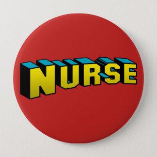 Super Nurse 4 Inch Round Button