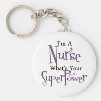 Super Nurse Basic Round Button Keychain