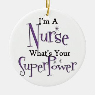 Super Nurse Ceramic Ornament