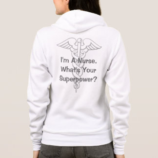 Super nurse hoodie with caduceus symbol