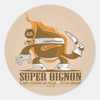 Super oignon classic round sticker