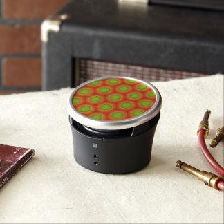 Super orange & green pattern so stylish speaker