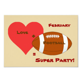 Super Party Super Bowl Invitation