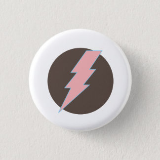 Super Pink Thunderbolt 1 Inch Round Button