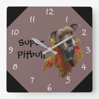Super Pitbull Wall Clock