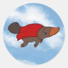Super Platypus Classic Round Sticker