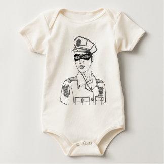 Super Policewoman Baby Bodysuit