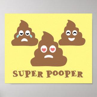 Super Pooper Emoji Poster