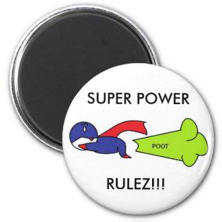 SUPER POWER RULEZ!!! 2 INCH ROUND MAGNET