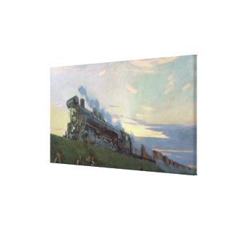 Super power steam engine, 1935 canvas print