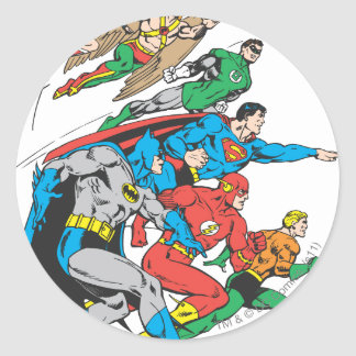 Super Powers™ Collection 12 Round Stickers