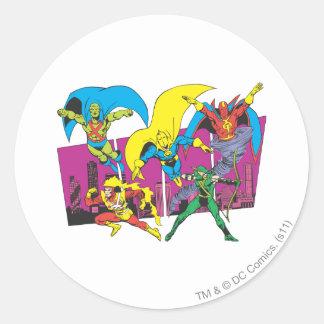 Super Powers™ Collection 17 Round Sticker