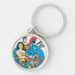 Super Powers™ Collection 1 Silver-Colored Round Keychain