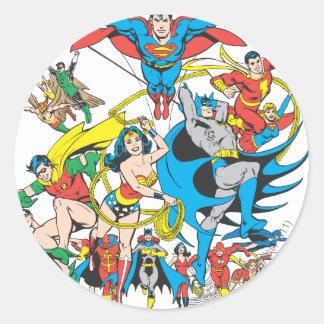 Super Powers™ Collection 4 Round Sticker