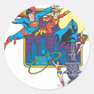 Super Powers™ Collection 5 Round Sticker