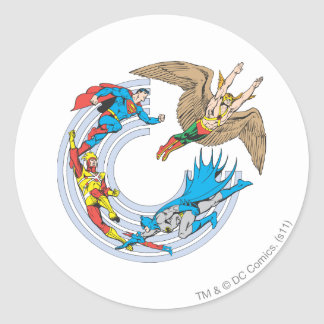 Super Powers™ Collection 7 Round Sticker