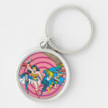 Super Powers™ Collection 8 Silver-Colored Round Keychain