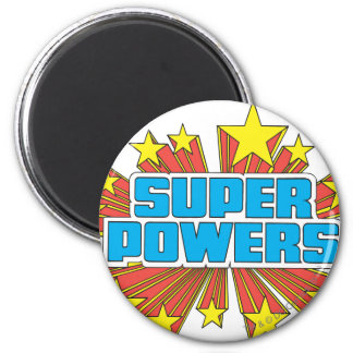 Super Powers™  Logo Blue 2 Inch Round Magnet