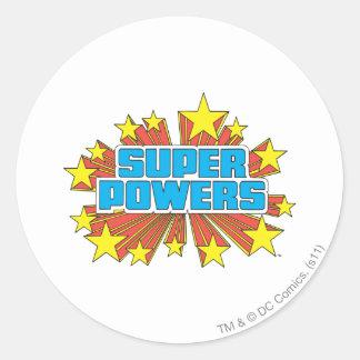 Super Powers™  Logo Blue Round Sticker