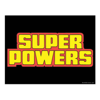 Super Powers™  Logo Yellow Postcard