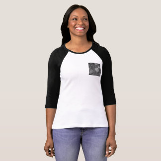 super pretty baseball t-shirt - grey small pocket