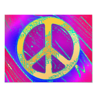 Super-Psychedelic Peace Sign! Card