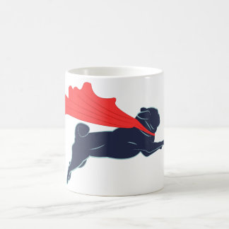 Super Pug Coffee Cup Basic White Mug