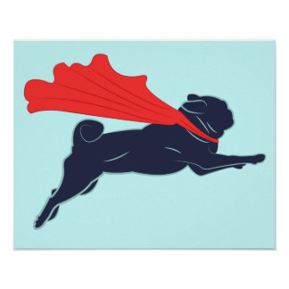 Super Pug Poster