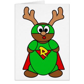 Super R green Greeting Card