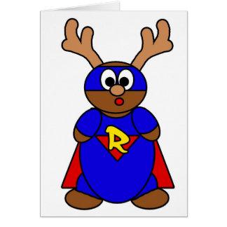 Super R Greeting Card