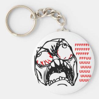 super rage face meme rofl basic round button keychain