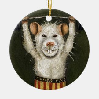 Super Rat Ceramic Ornament