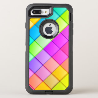 Super Retro Block Pattern OtterBox Defender iPhone 8 Plus/7 Plus Case