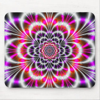 Super Retro Neon Circle Pattern Mouse Pad