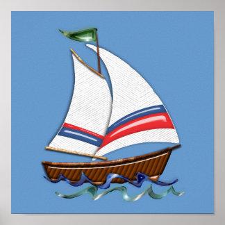 Super Sailboat Poster