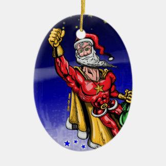 Super Santa Claus Ceramic Ornament
