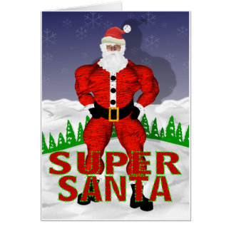 Super Santa Claus Christmas Card
