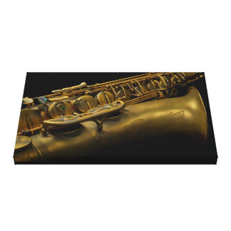 Super Saxophone Canvas Print